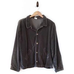 CP Shades Sage Velvet Long Sleeve Jacket